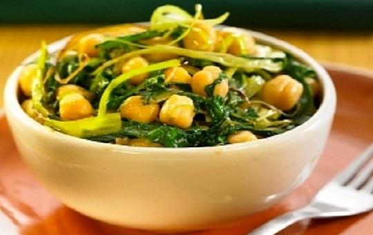 Potaje de garbanzos con verduras