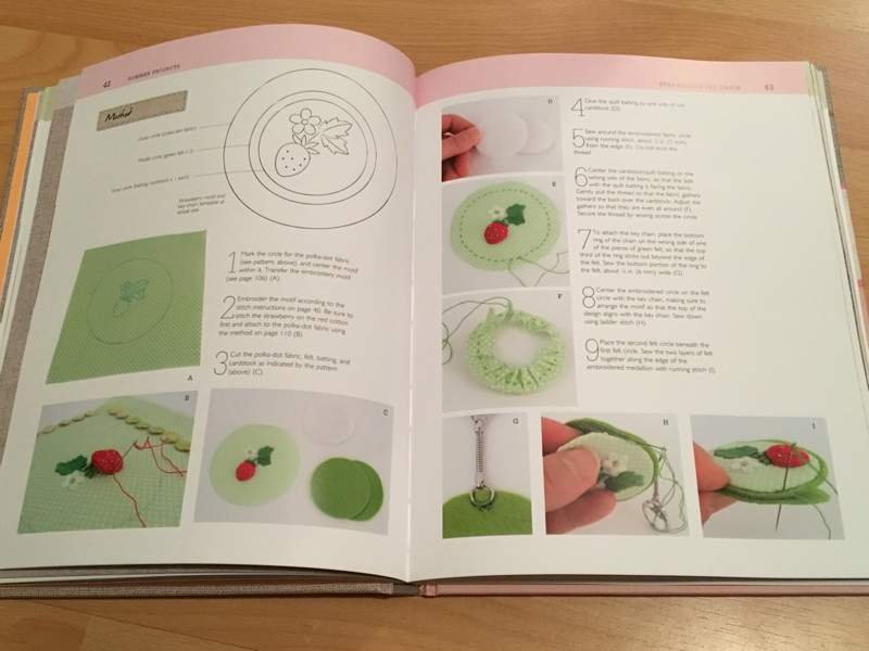 The Hand Stitched Flower Garden, a book review by Michelle for Feeling Stitchy