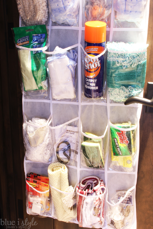 Cleaning Closet Door Storage