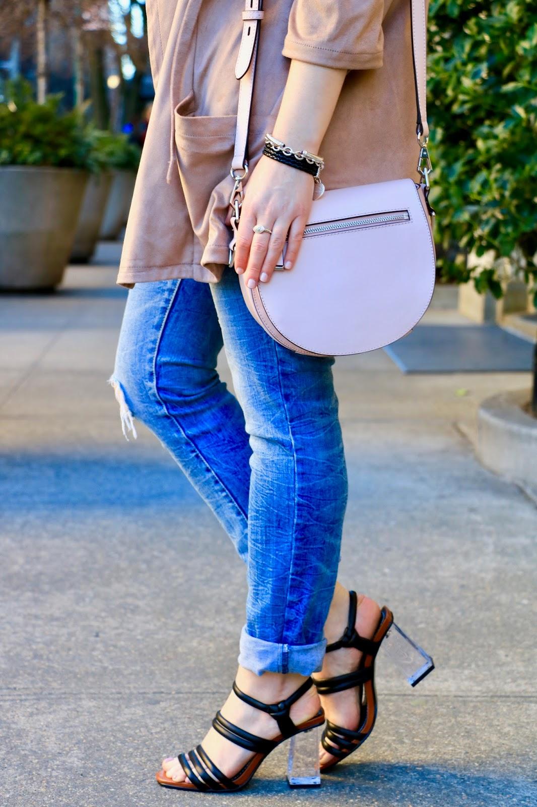 cuffed jeans heels