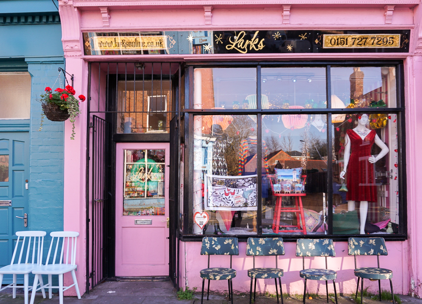 Lark's pink shop on lark lane, liverpool. where to stay in liverpool