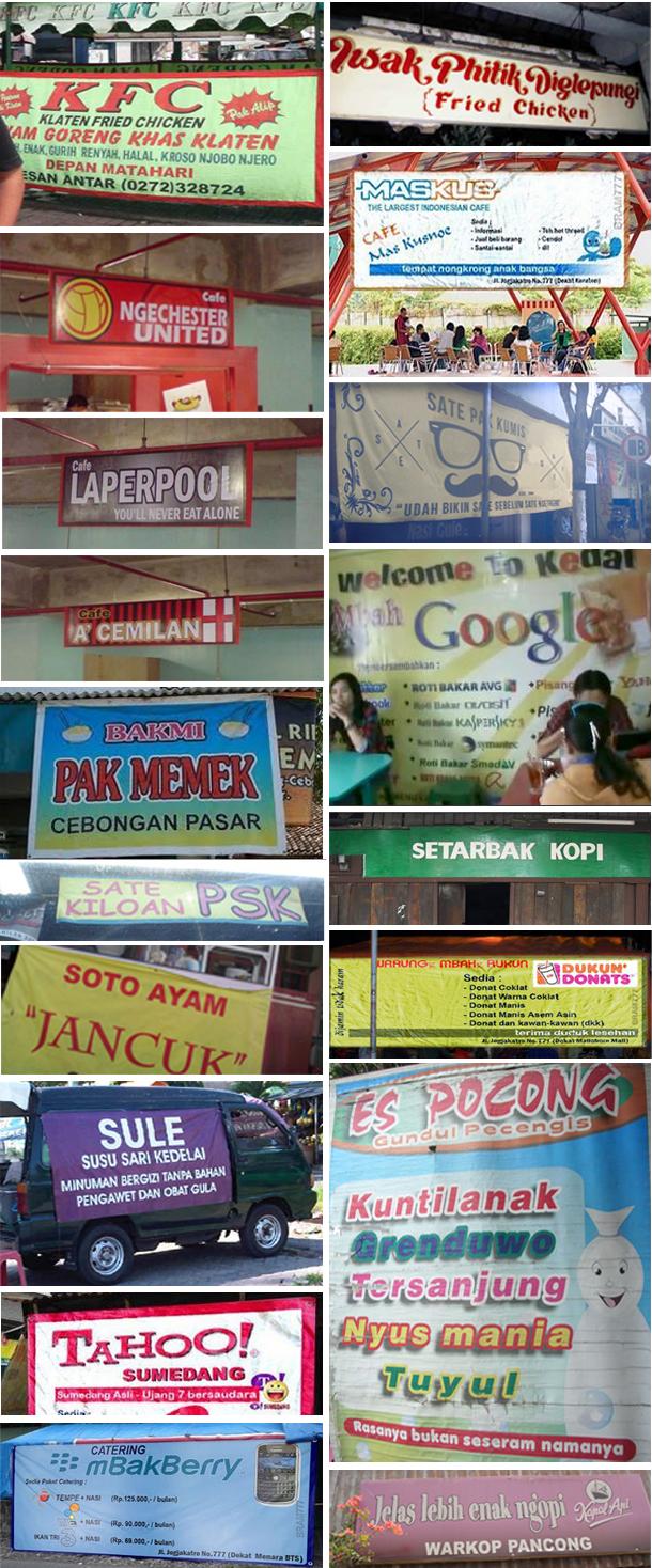 Koleksi Foto Nama Warung Gokil CERITA ANEH