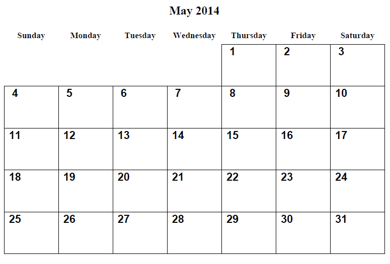 Two printable 2014 calendars are available on this website. Printable Calendar 2014 Blank Calendar 2014 Download Calendar 2014 Template Calendar 2014 Free May 2014 Calendar Printable 1