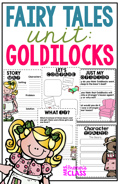 Fairy Tales unit featuring activities for 6 popular stories, including Cinderella, The Three Little Pigs, Goldilocks and the Three Bears, The Frog Prince, Jack and the Beanstalk, and Little Red Riding Hood. Packed with lots of fun literacy ideas and guided reading activities. Common Core aligned. Grades 1-3. #fairytales #literacy #guidedreading #1stgrade #2ndgrade #3rdgrade