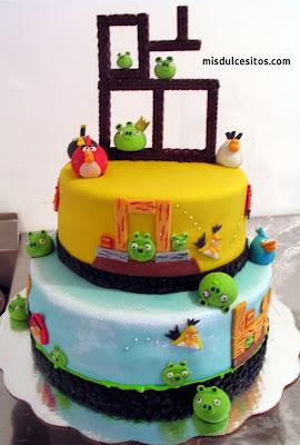 Tortas Angry Birds. Venta de tortas para cumpleaños infantiles en Lima