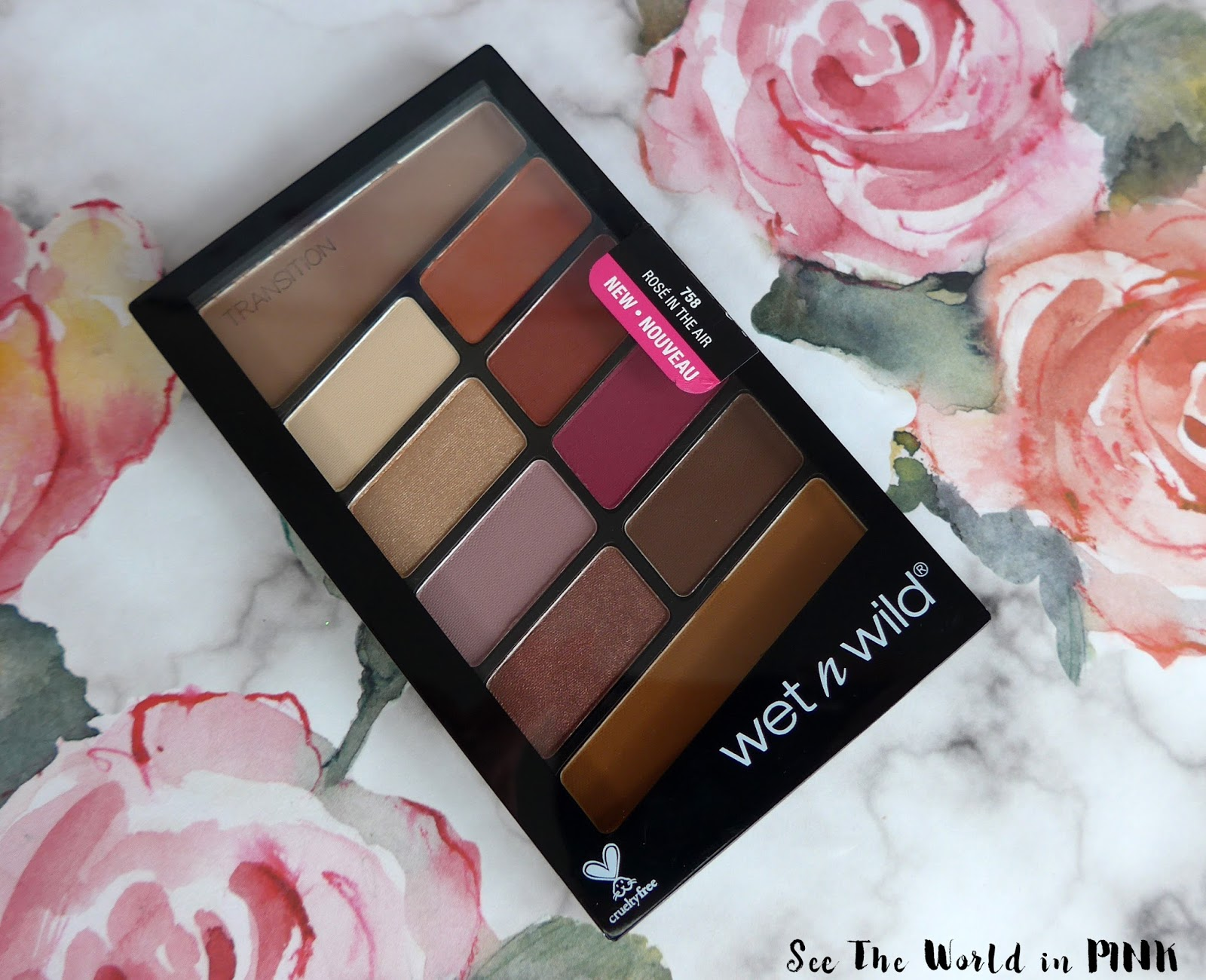 Wet n Wild Rose in the Air Color Icon Eyeshadow 10 Pan Palette - Swatches, Makeup Look and Review!