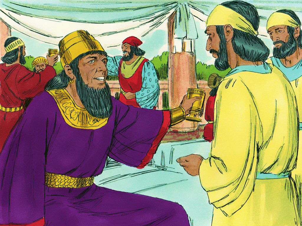 After the feast the King invited everyone at his palace in Susa (Shushan) to another feast which lasted 7 days.