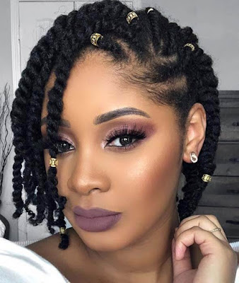 39+ Latest Cornrow Styles with Natural Hairstyles for Black Women ...