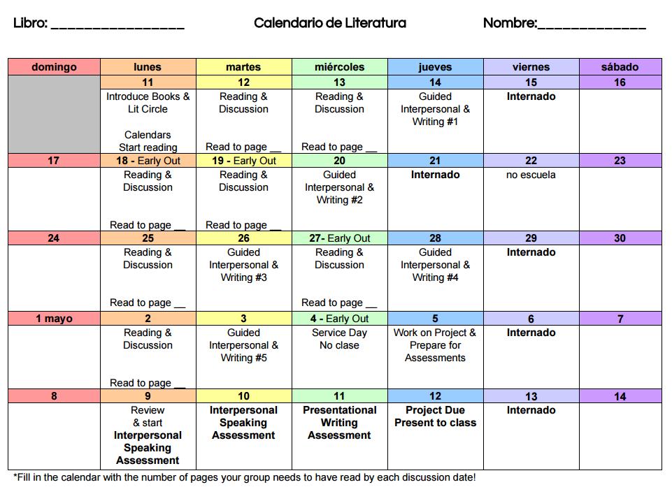 Literature Circles In Spanish Class Mis Clases Locas
