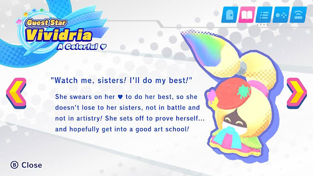 Kirby Star Allies Guest Star Vividria sisters art school pause description