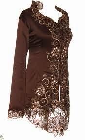 Contoh Model Baju Kebaya Menyusui Warna Coklat