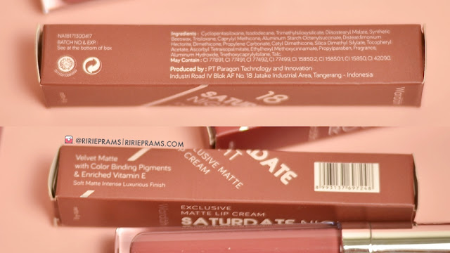 Review & Swatch Wardah Exclusive Matte Lip Cream 3 New Shades (16, 17 & 18)