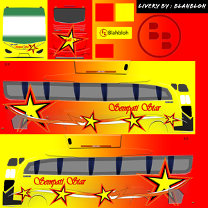 Livery Sempati Star Jetbus HD