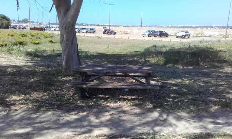 Mesa de Piquenique com sombra