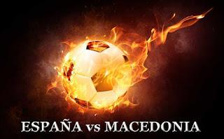 Espana contra Macedonia, horario del partido en La 1