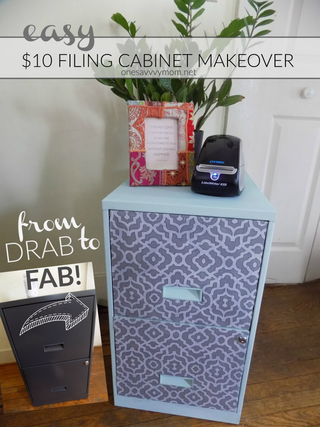 Easy DIY Filing Cabinet Makeover Tutorial One Savvy Mom onesavvymom blog DYMO LabelWriter 450 Value Pack #DYMOANDDONE