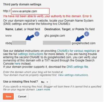 domain name blogger