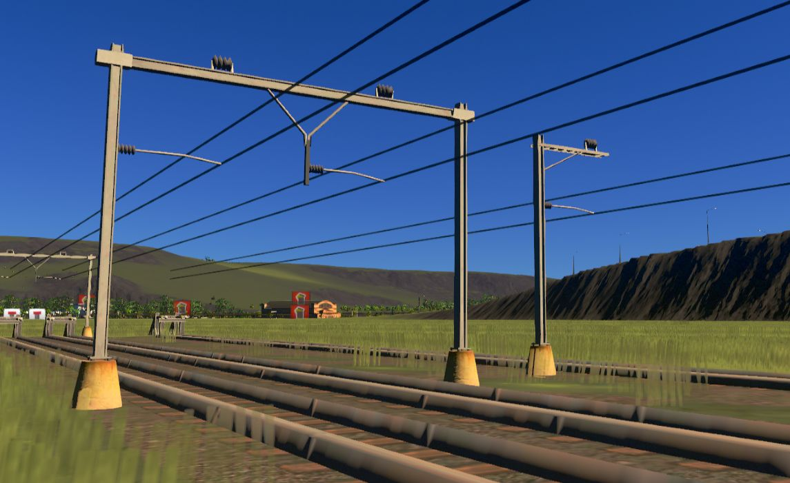 Cities Skylines MOD導入ガイド: 架線柱を変更する(Catenary Replacer)