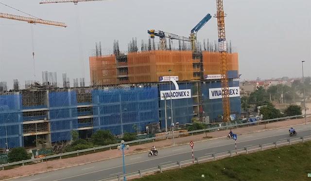 Tiến độ xây dựng Intracom Riverside Vĩnh Ngọc Đông Anh