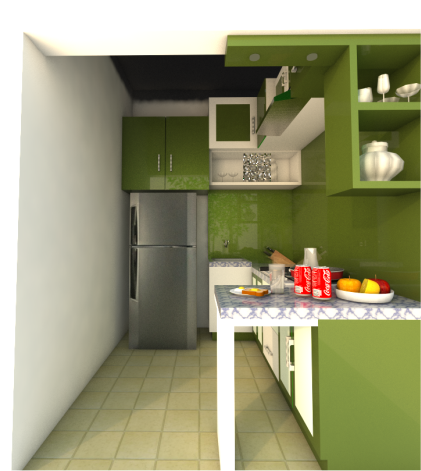 Hasil Rendering Model Sketchup