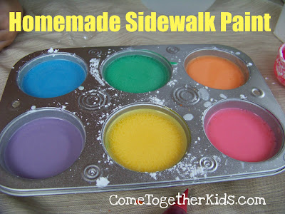 Making homemade sidewalk paint is an easy and fun summer project.