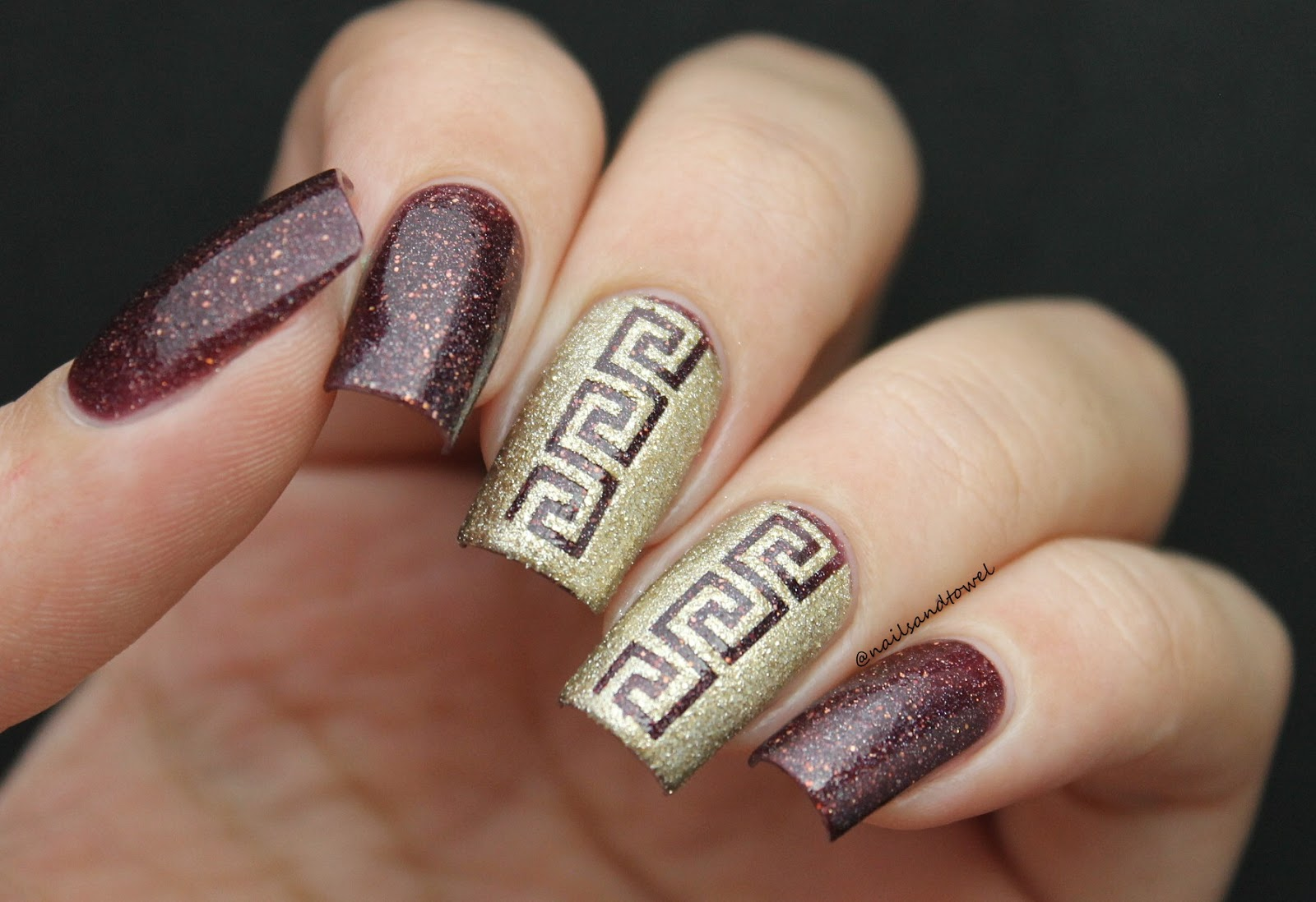 My Nail Art Journal: Greek Style Nails - Ft Whats Up Nails