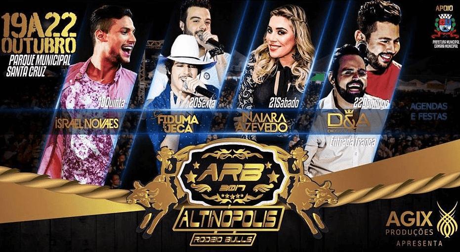 Circuito Rodeio 2018 : Rodeio de altinópolis camarote cantores programação