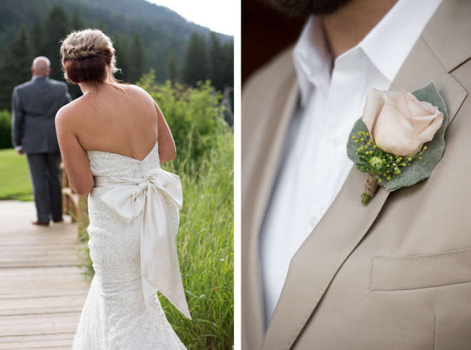 Bow Dress / Jessie Moore Photography / Boutonniere by Melinda Anderson