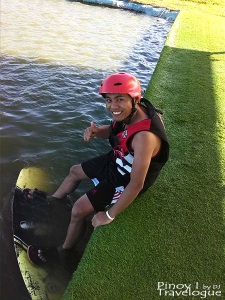 At the beginner's area of Republic Wakepark