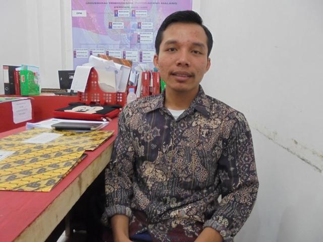 Yohanes Rico Ricardo selaku Menteri Luar Negeri Badan Eksekutif Mahasiswa Universitas Tribhuwana Tunggadewi Malang