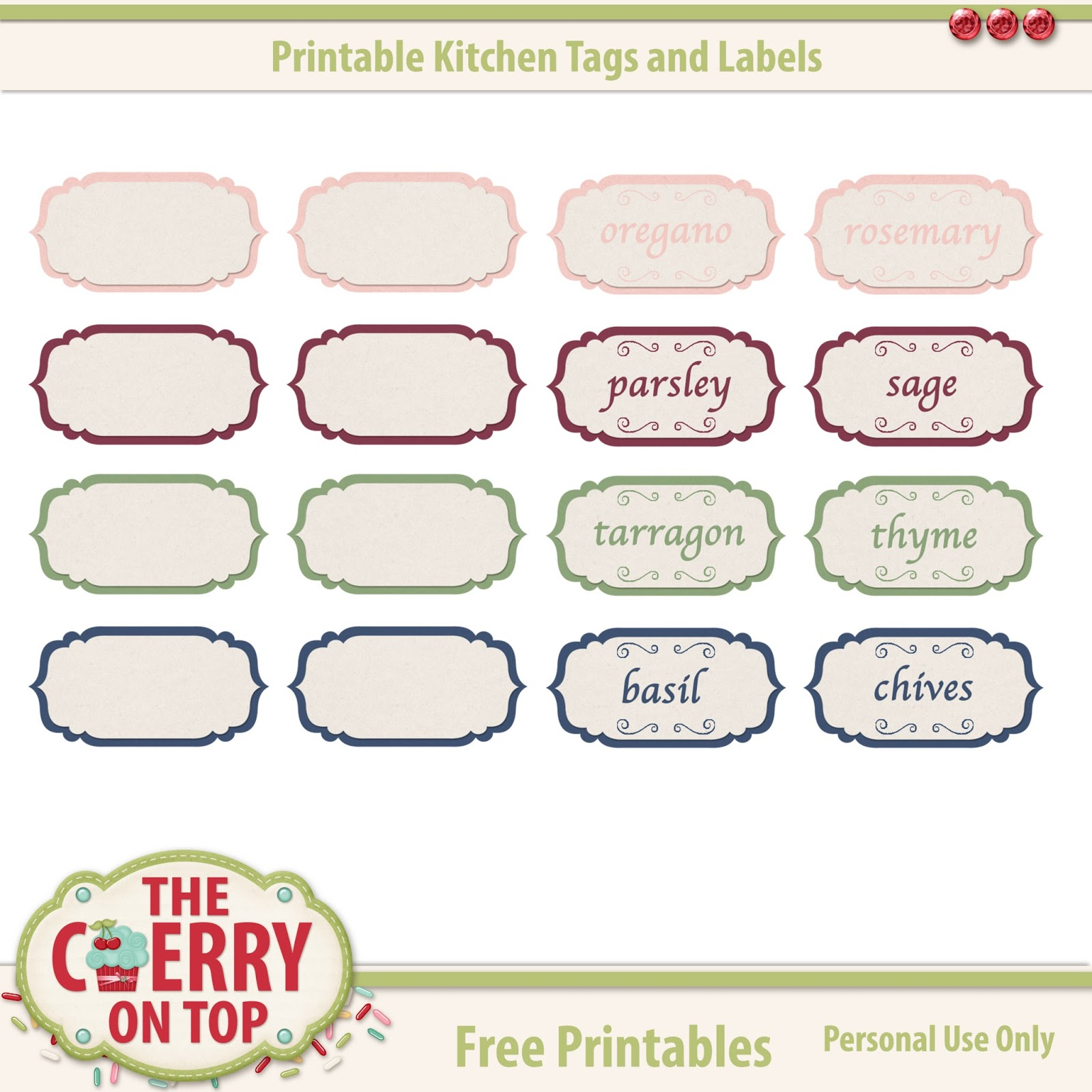 the cherry on top free printable labels from the cherry on top