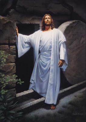 Dibujo de Jesús saliendo de su sepultura