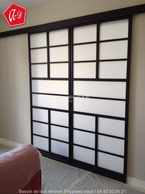 Shoji et panneaux japonais contemporains for Porte coulissante 3 panneaux