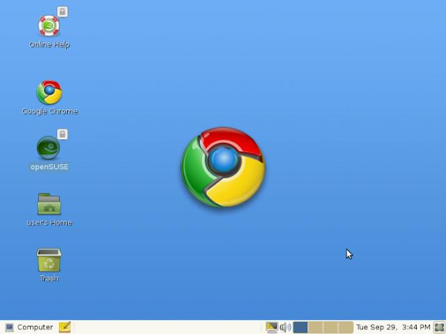 Google Chrome OS è un sistema operativo progettato da Google e basato sul kernel Linux.