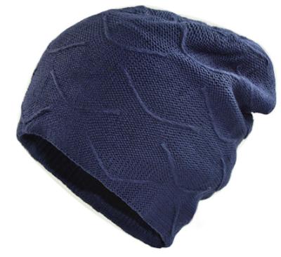 Winter Double Layer Plus Velvet Knit Beanie Hat