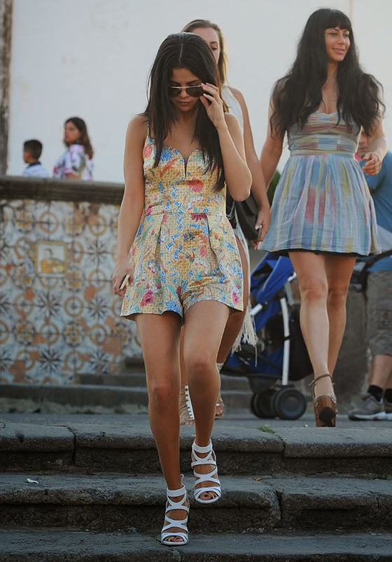 Selena Gomez spent the weekend in Italy