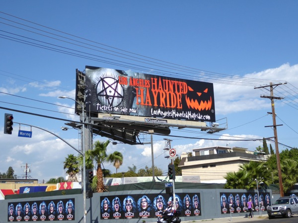 2016 Los Angeles Haunted Hayride billboard