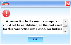 ERROR - I cant connect, and it will display