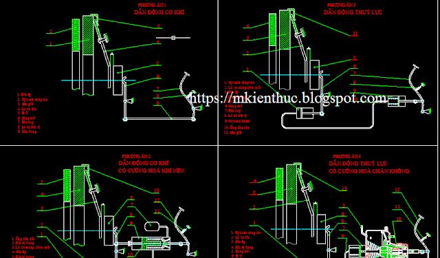 Bản vẽ phương án thiết kế hệ thống ly hợp trên xe con có trợ lực chân không