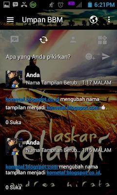 BBM MOD v3.0.0.18 Laskar Pelangi Cheat APK