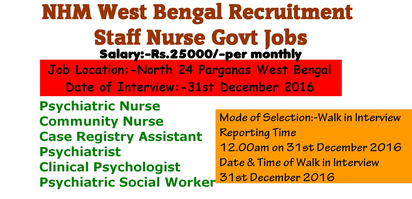 nurses job vacancy nhm west bengal recruitment latest nhm west bengal recruitment 2017 latest staff nurse govt jobs