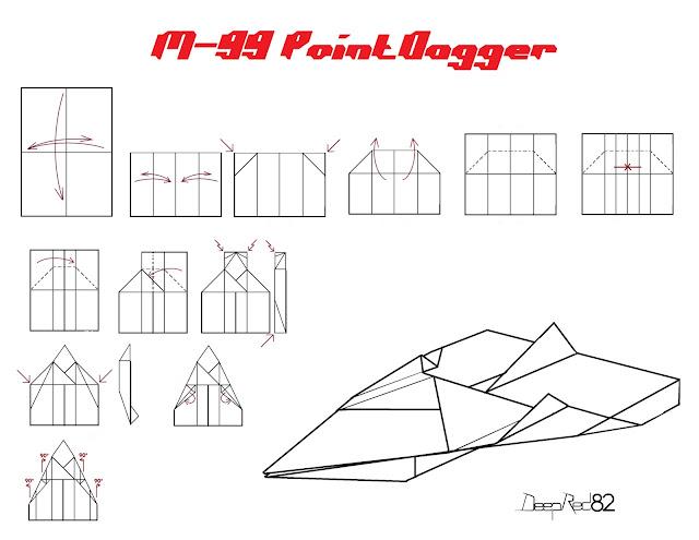 Avión de papel M-99 PointDagger