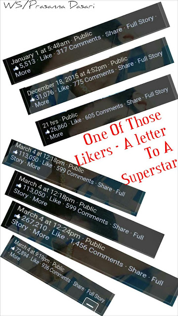 One Of Those Likers - A letter To A Superstar