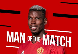 Paul Pogba Man of the Match Manchester United vs Leicester City