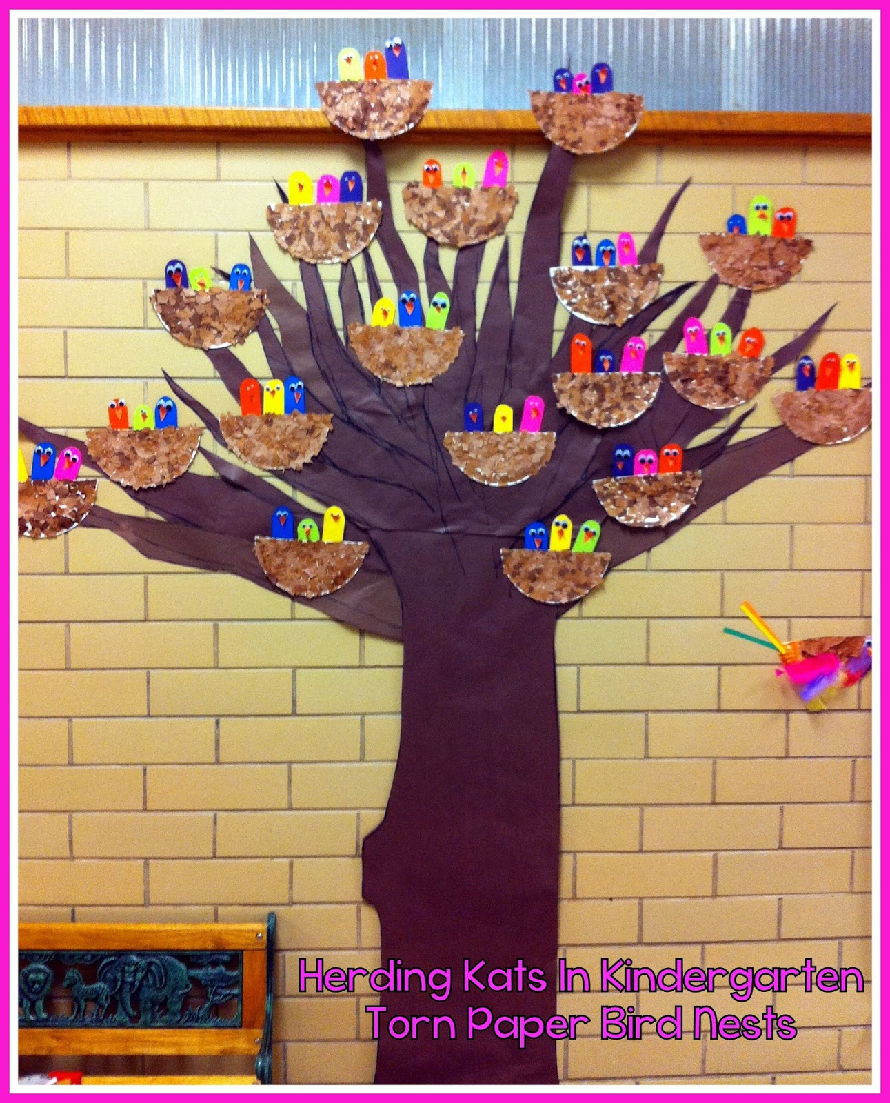 Herding Kats In Kindergarten Spring Crafts Bulletin Board
