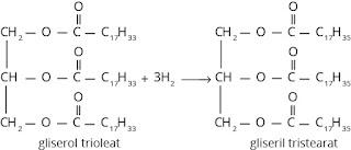 Reaksi reduksi terhadap ester tak jenuh suku tinggi