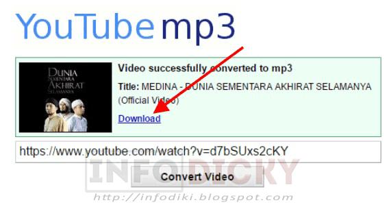 cara mendownload lagu youtube ke mp3