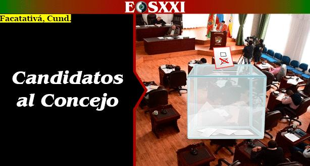 #FacatativáVota2019 268 candidatos a ocupar las 17 curules del Concejo de Facatativá.