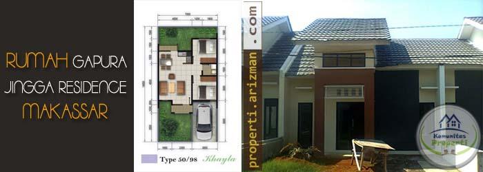 Dijual Rumah Gapura Jingga Residence Makassar