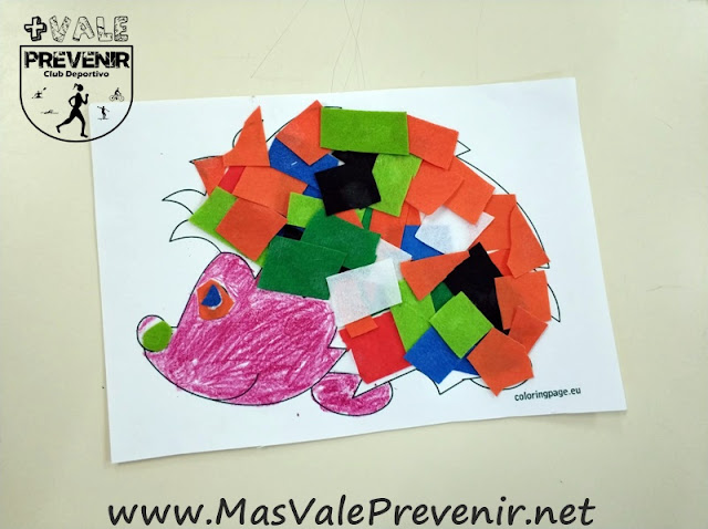 manualidades para niños erizo hedgehog